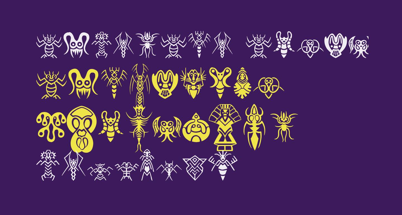 Abstract Alien Symbols