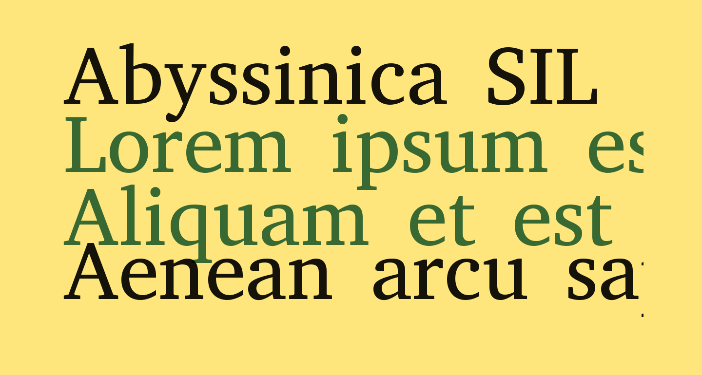 Abyssinica SIL