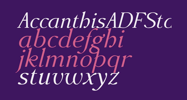 AccanthisADFStd-Italic
