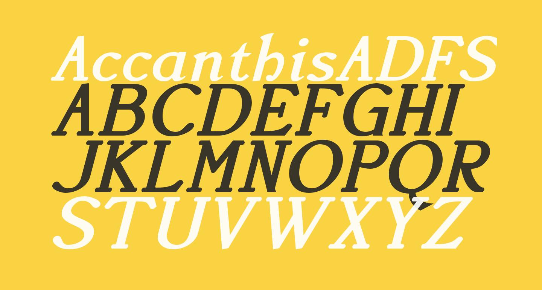 AccanthisADFStdNo3-BoldItalic