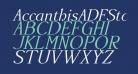 AccanthisADFStdNo3-Italic