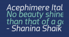 Acephimere Italic