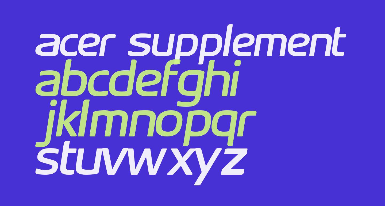 Acer Supplement