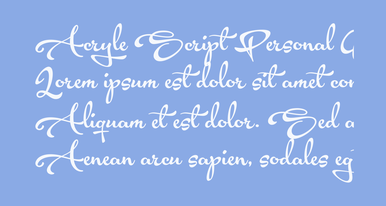 Acryle Script Personal Use
