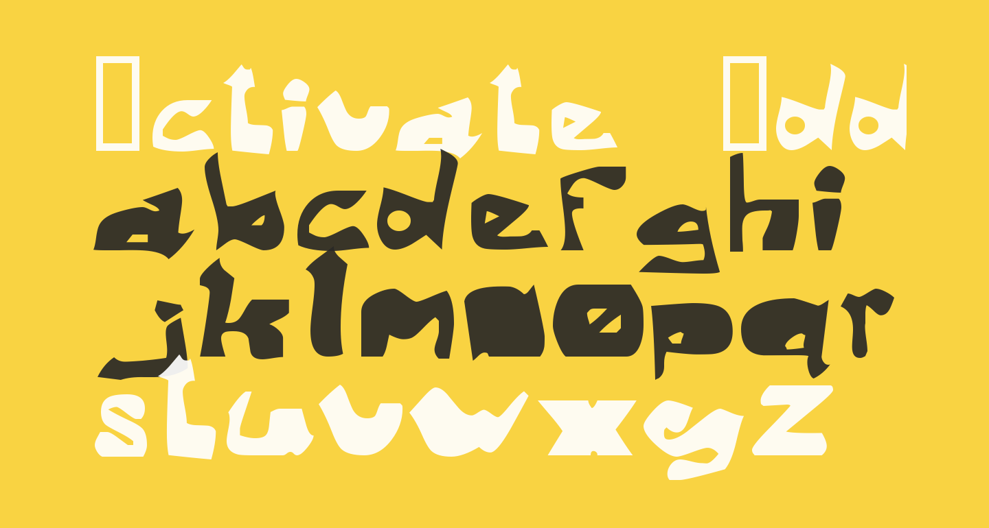 Activate  Oddtype