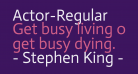 Actor-Regular