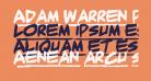 Adam Warren pro Bold Italic