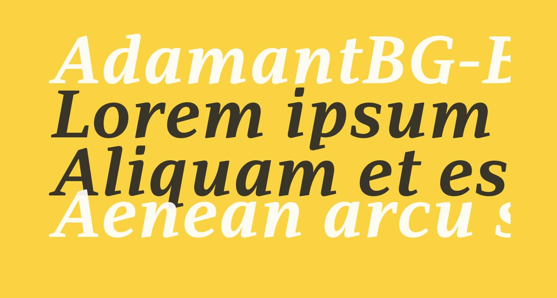 AdamantBG-BoldItalic