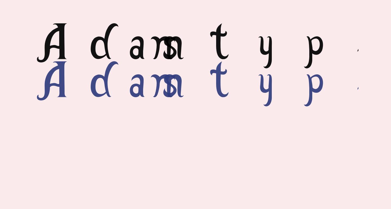 Adamstype