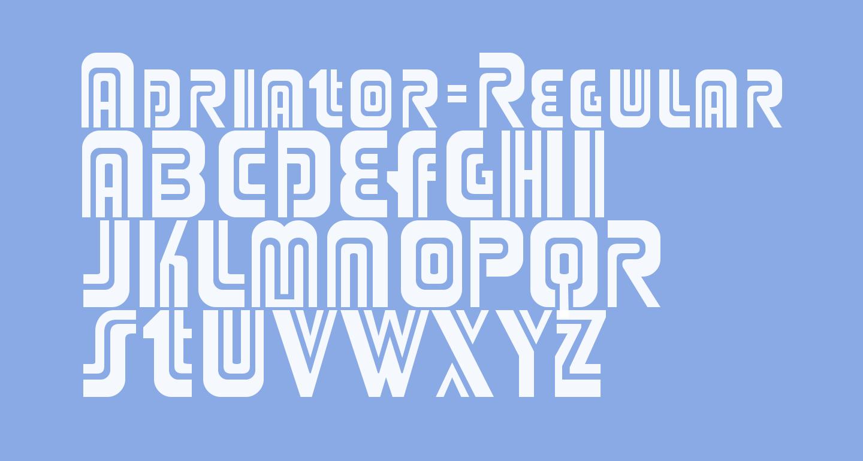 Adriator-Regular