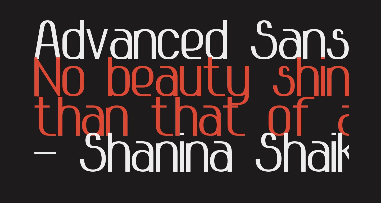 Advanced Sans Serif 7 Bold