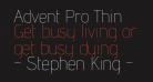 Advent Pro Thin