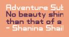 Adventure Subtitles