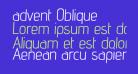 advent Oblique
