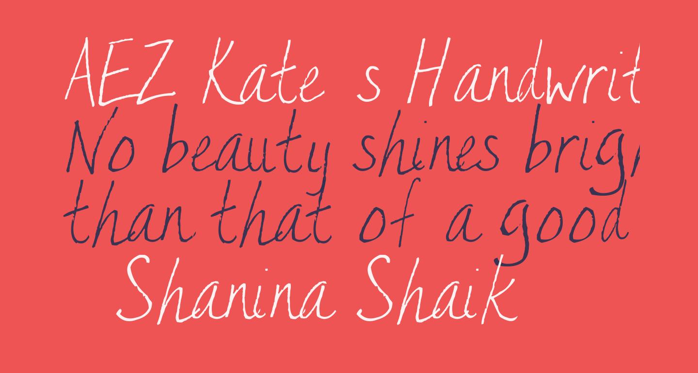 AEZ Kate's Handwriting
