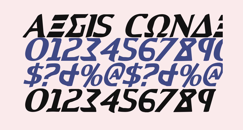 Aegis Condensed Italic
