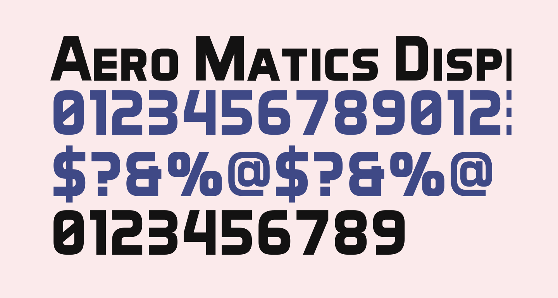 Aero Matics Display Bold