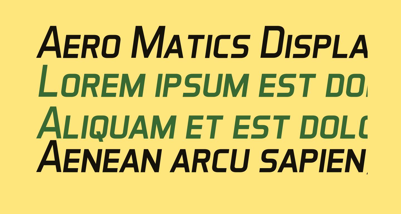 Aero Matics Display Italic