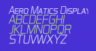Aero Matics Display Light Italic