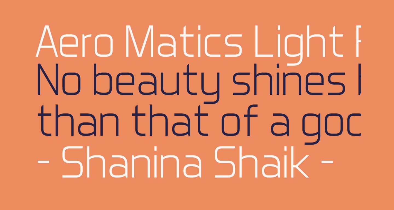 Aero Matics Light Regular