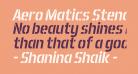 Aero Matics Stencil Italic