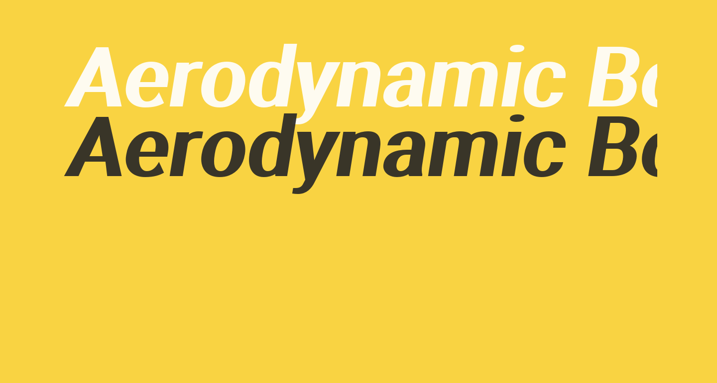 Aerodynamic Bold Oblique