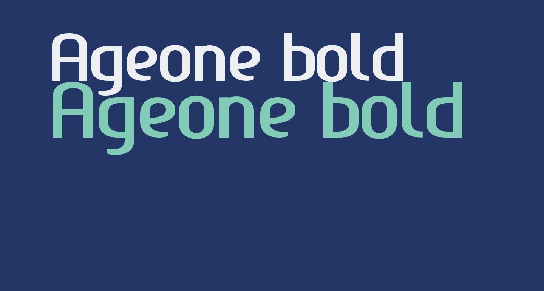 Ageone bold