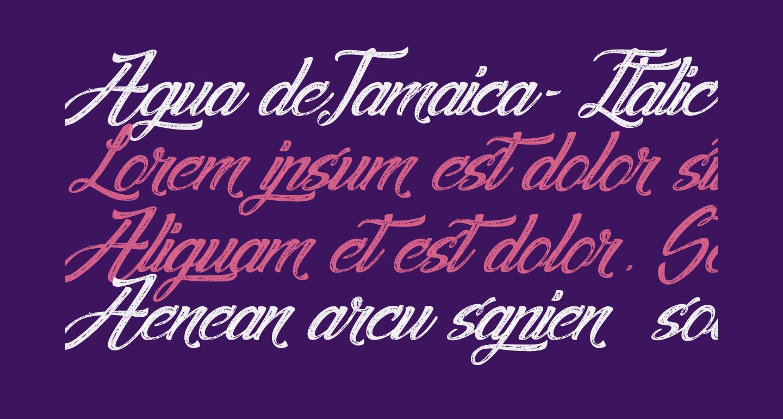 Agua deJamaica-Italic