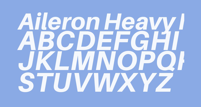 Aileron Heavy Italic