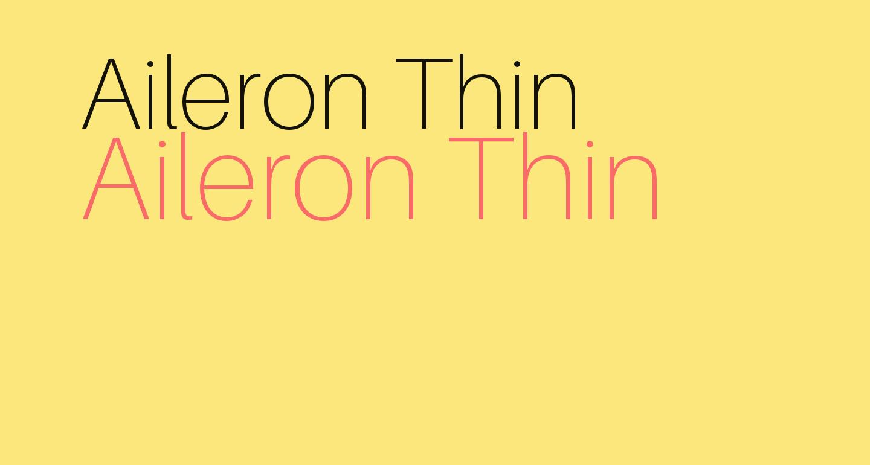 Aileron Thin