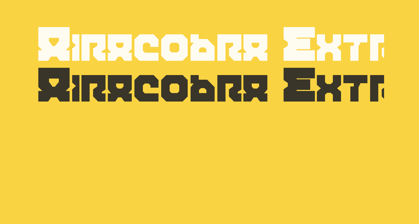 Airacobra Extra Bold