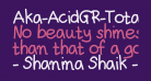 Aka-AcidGR-TotallyPlain