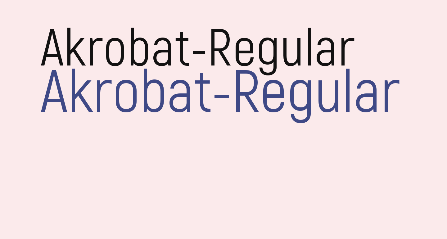 Akrobat-Regular