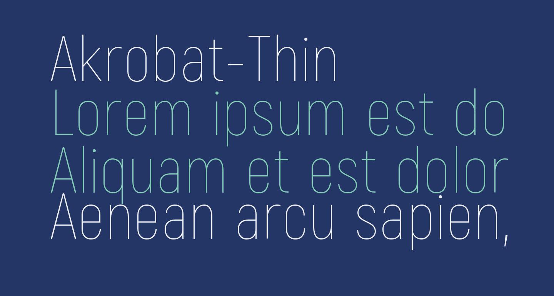 Akrobat-Thin