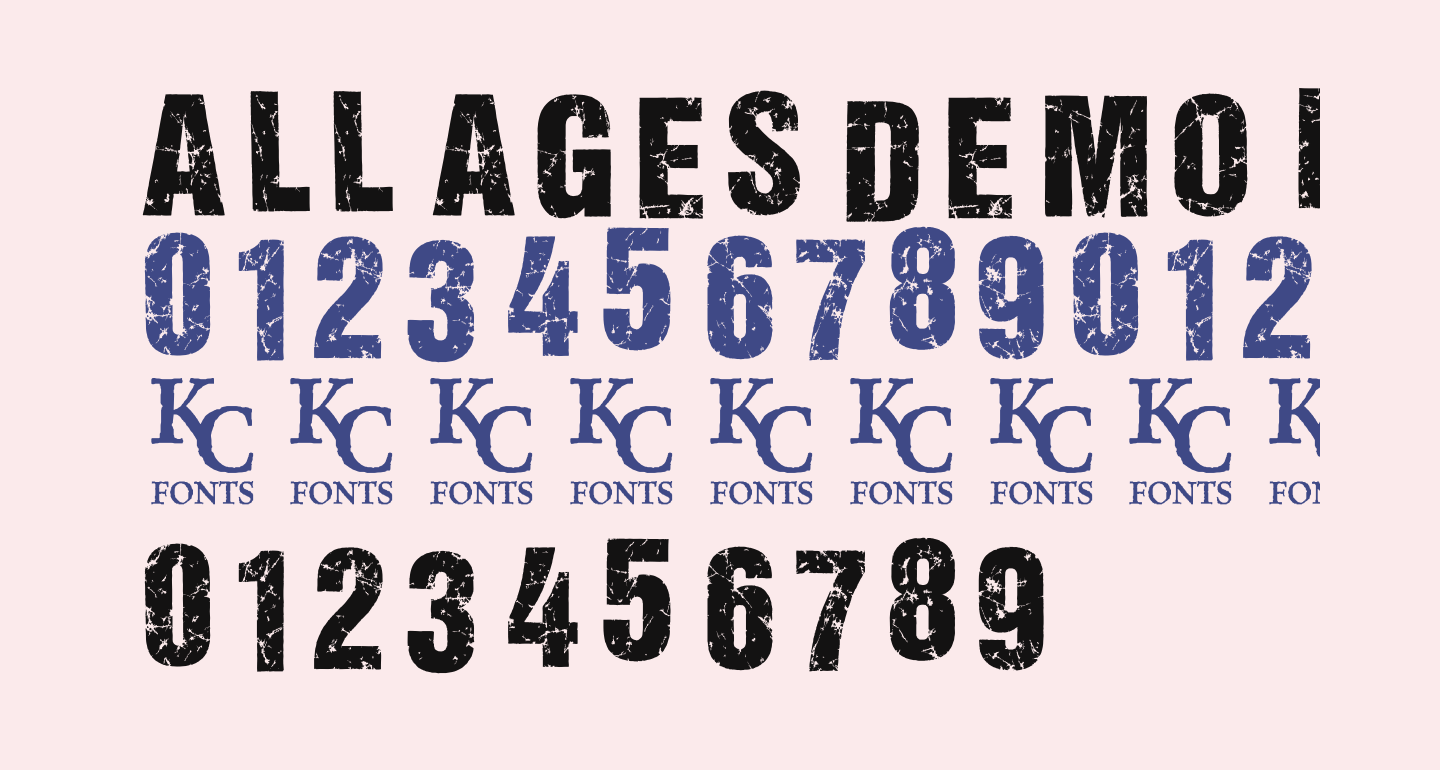 ALL AGES DEMO Bold Italic