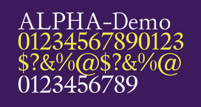 ALPHA-Demo