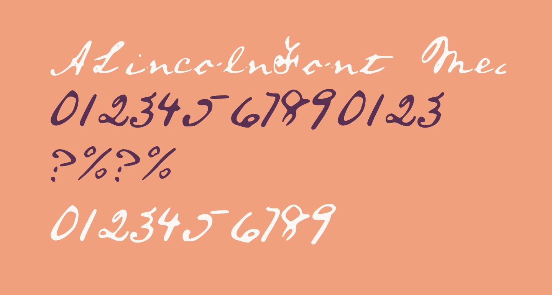 ALincolnFont Medium
