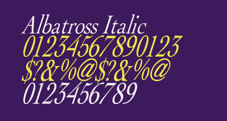 Albatross Italic