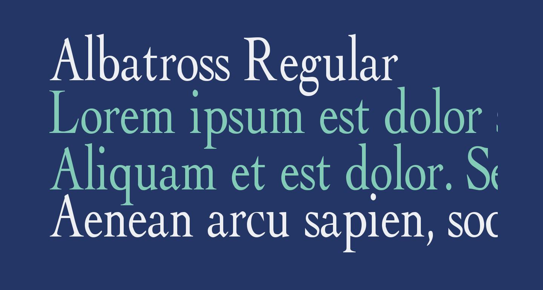 Albatross Regular