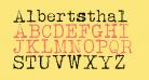 Albertsthal Typewriter