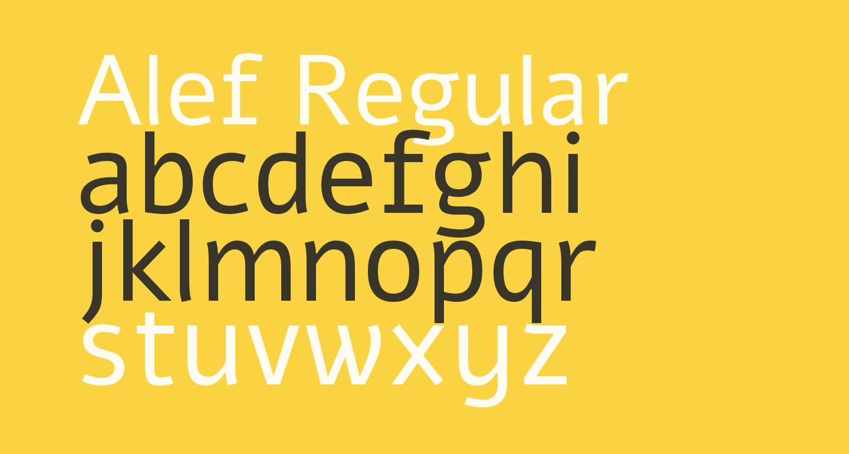 Alef Regular