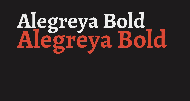 Alegreya Bold