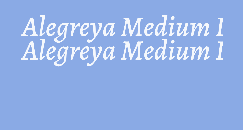 Alegreya Medium Italic