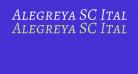 Alegreya SC Italic