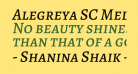 Alegreya SC Medium Italic