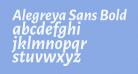 Alegreya Sans Bold Italic