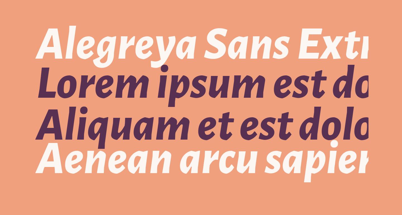 Alegreya Sans ExtraBold Italic