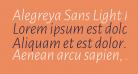 Alegreya Sans Light Italic