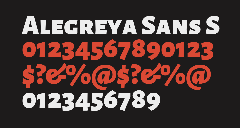 Alegreya Sans SC Black