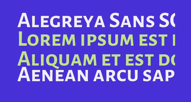 Alegreya Sans SC Bold
